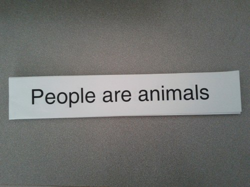 People are animals