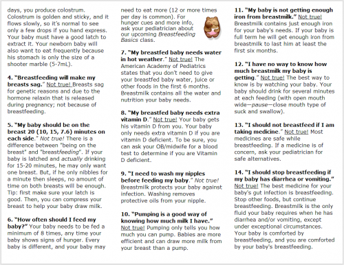 Breastfeeding Answer Booklet 2 (inside)