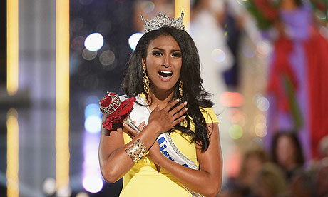 """This week, the first Indian-American was crowned Miss America. Morons were outraged: """"An Arab/Muslim Won Miss America!"""" Never mind that she was born in Syracuse, grew up in Michigan and lives in New York City. And never mind that 49% of the next generation of America will not be white."""