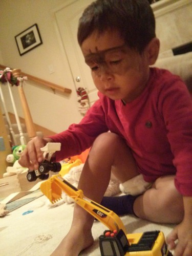 """""""I'm batman."""" God I know your teachers like to paint your face but they're not the ones who have to clean you later..."""