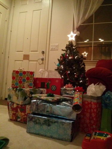 Presents stacked high