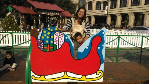 Christmas at the park with mama