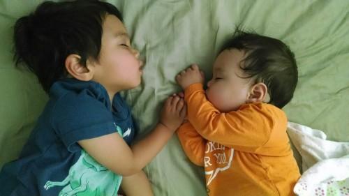 Falling asleep together