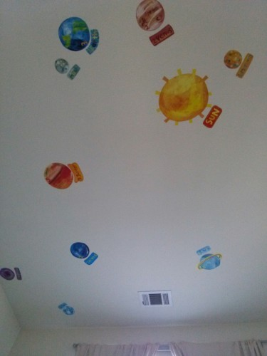 """I like the planets on the ceiling."""