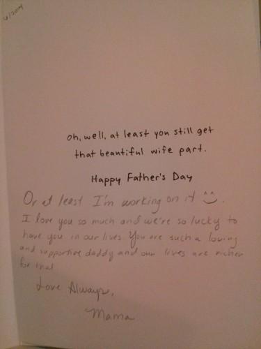 Inside mama card