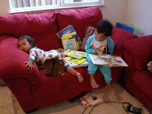 Reading and climbing