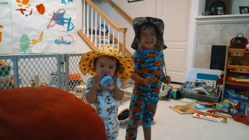New hats from our neighbor Auntie L