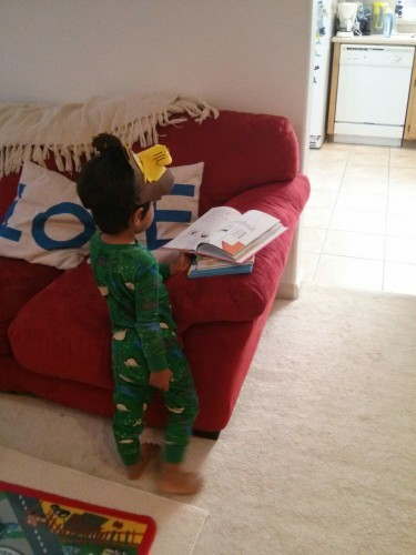"Mama: ""BREAKFAST!"" J: ""Mama, stop it! I'm still reading!"""