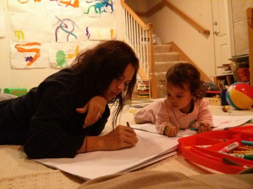 Drawing with mama