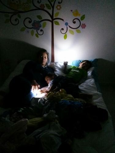 Fireflies and a sleepy mama