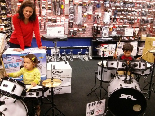 When your sister woke up in the car, she came in to double-check all the instruments too