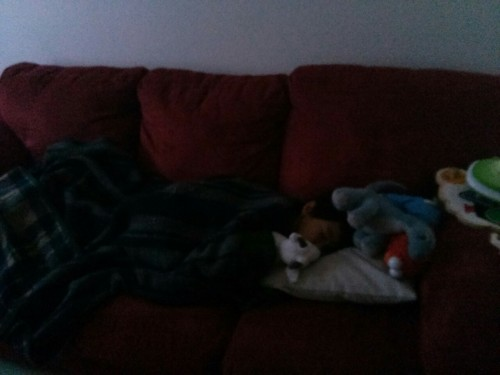 Then I conned J into taking a nap. Double K.O. - daddy wins!