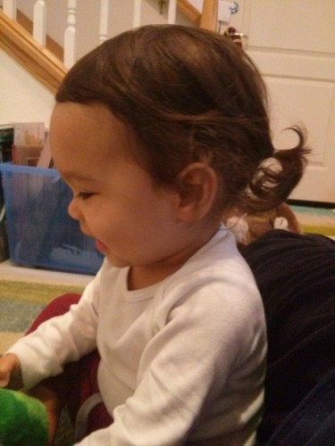 First ponytail