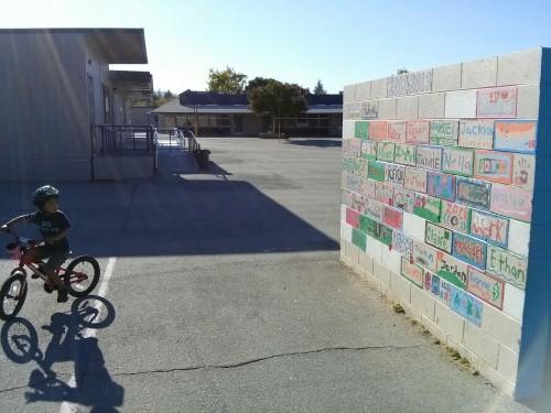 Class wall at new school
