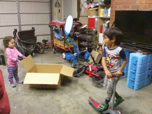 Our garage is still messy