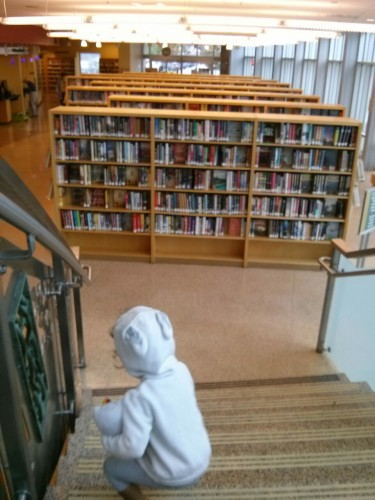 This is our new library. You brought Hello Kitty