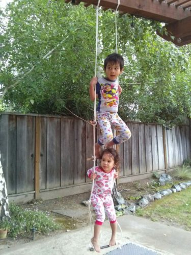 New rope ladder swing