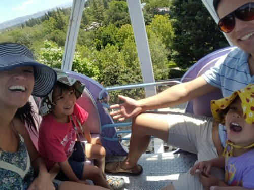 High up ferris wheel