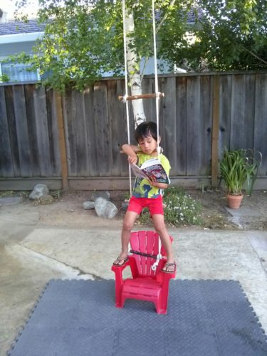 Reading swing chair