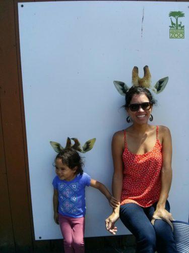 Mama giraffe baby giraffe